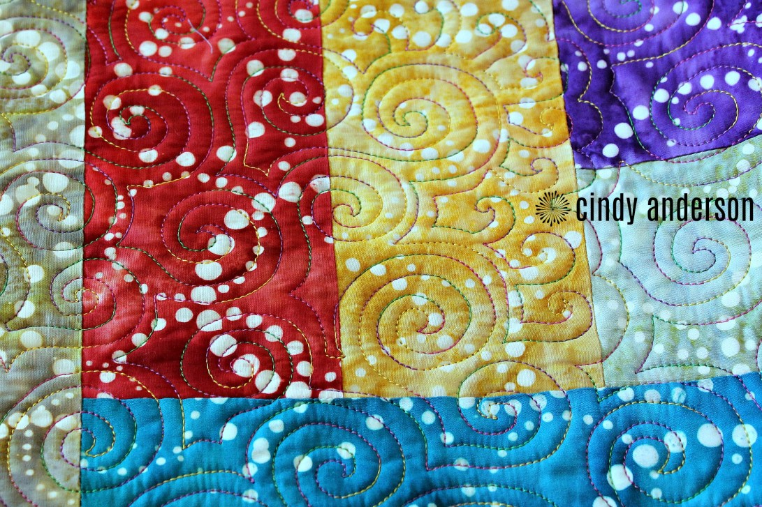 A Swirl with Attitude on Quinn H Quilt