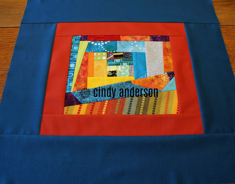 Art Quilt # 27: Summer Picnic after adding borders