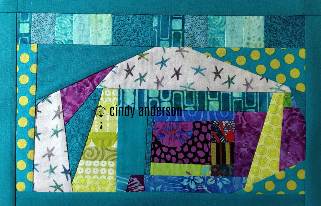 Art Quilt # 26: Blue Condo before adding borders