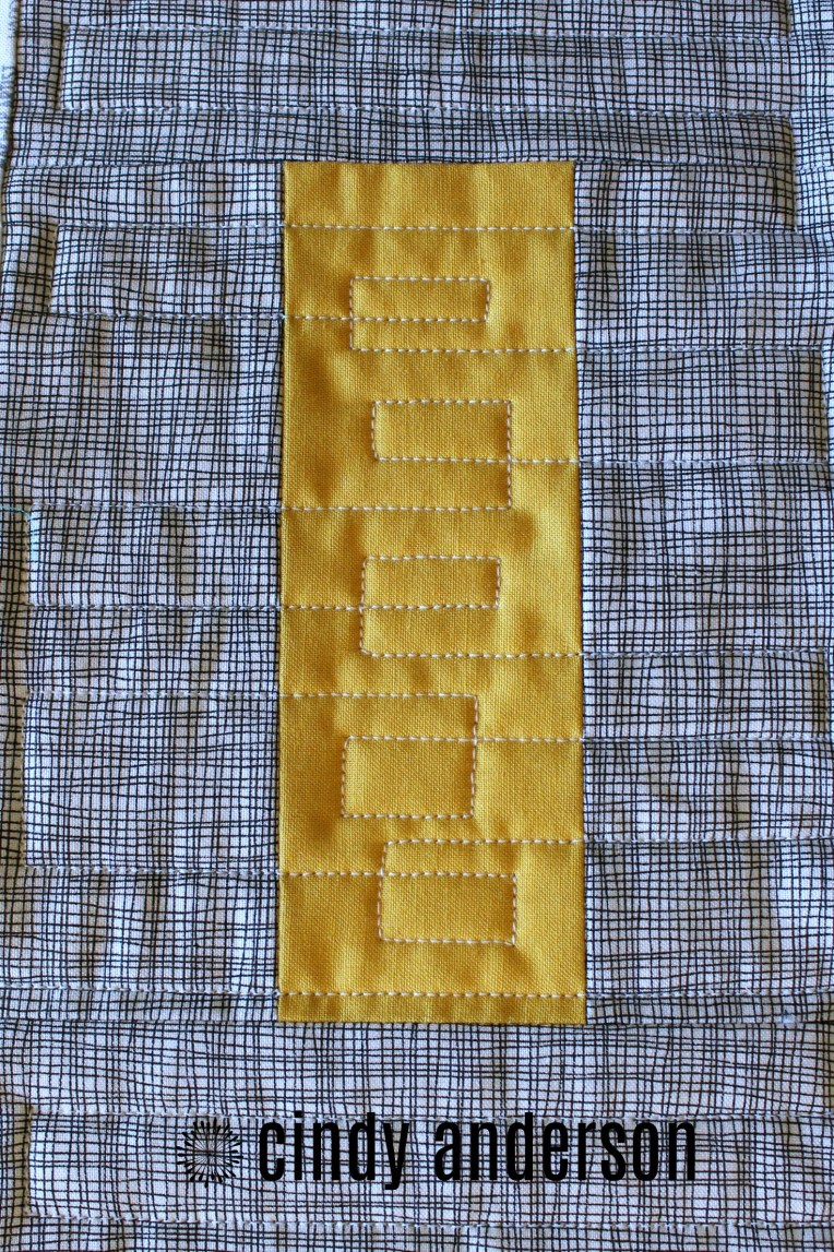 Crisscrossing Lines on Mr. B's Quilt