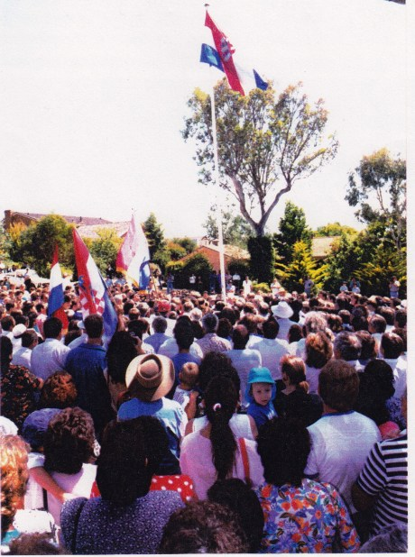 26 February 1993 - opening of the Embassy of the Republic of Croatia in Canberra