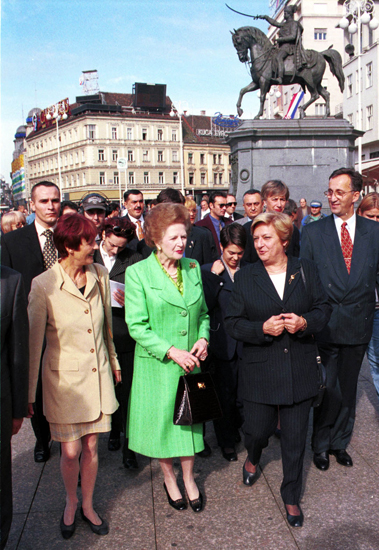Margaret Thatcher in Croatia 1998  Photo:Cropix