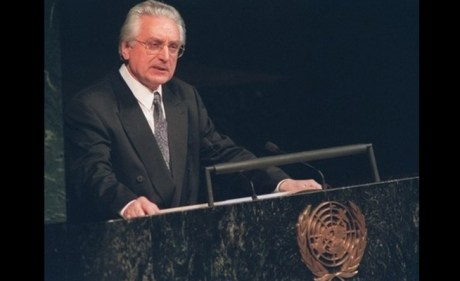 dr Franjo Tudjman at UN on 22 May 1992