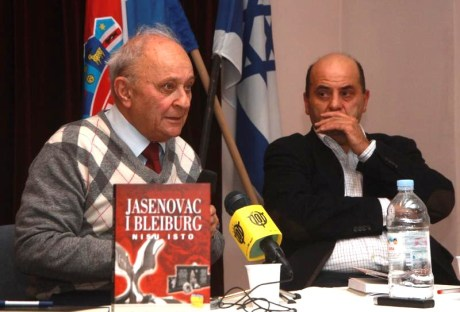 "Slavko and Ivo Goldstein and their book ""Jasenovac and Bleiburg are not the same"" -  Photo: Zarko Basic/Pixsell YES THEY ARE and WHAT'S MORE ""BLEIBURG""  REPRESENTS MANY MORE DEAD INNOCENTS AT THE HANDS OF COMMUNISTS"