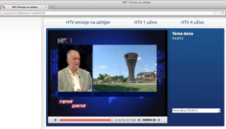 "Dr. sc. Slobodan Lang  Screenshot of Croatia's television Program ""Theme of the Day"" on Vukovar 9 Sept 2013"