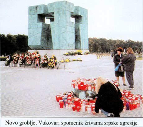 New cemetery, Vukovar Monument to victims of Serb aggression