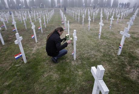Vukovar, Croatia Cemetery for victims of Serb aggression and genocide