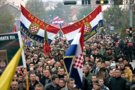 Croats march to Vukovar Memorial Cemetery to honour the fallen for freedom 18 Nov 2013   Photo: Vlado Kos/Cropix
