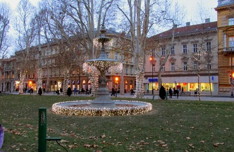 Advent in Zagreb Zrinjevac Park, Croatia
