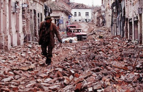 Vukovar, Croatia 1991 - brutally devastated from Serb aggression