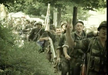 Croat Operation Storm defenders enter liberated town of Knin