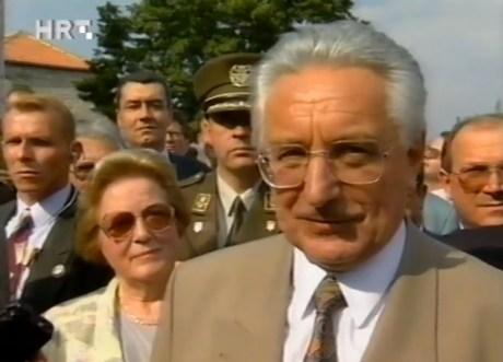 Franjo Tudjman in liberated Knin August 6, 1995