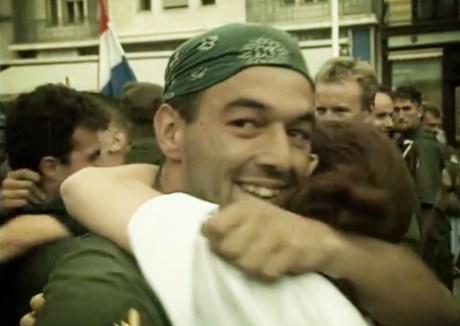 Operation Storm veteran receives a hug of gratitude