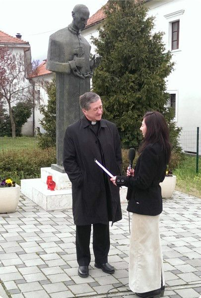Bishop Blase Cupich  in Varazdin, Croatia March 2014
