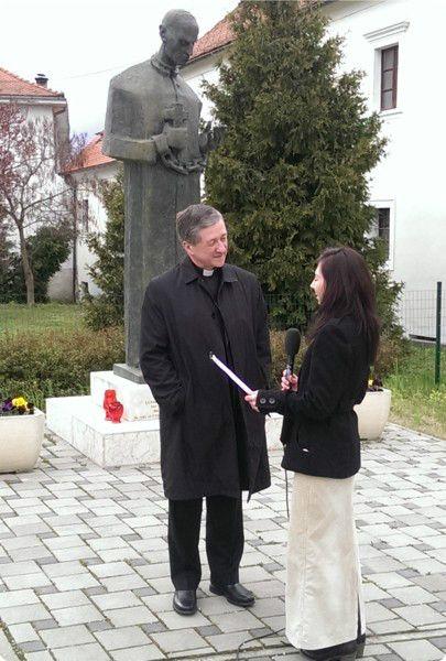 Bishop Blase Cupich  in Varazdin, Croatia March 2014