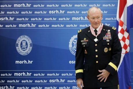 General Martin Depmsey in Croatia 22 September 2014