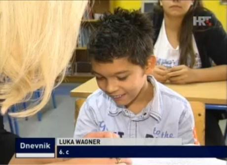 Luka Wagner 3 November 2014 Photo: Screenshot hrt.hr