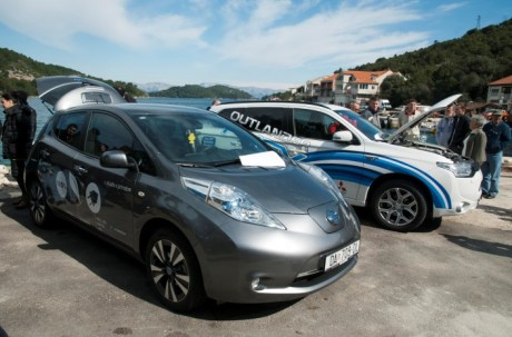 Electric cars on Island of Mljet
