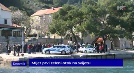"""Launching on Island of Mljet """"First Green Island in the World"""" Project 8 March 2015 Photo: Screenshot HRT.hr news"""
