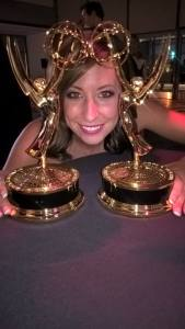 Brenda Brkusic Milinkovic With her 2 Emmy Awards Photo: Facebook