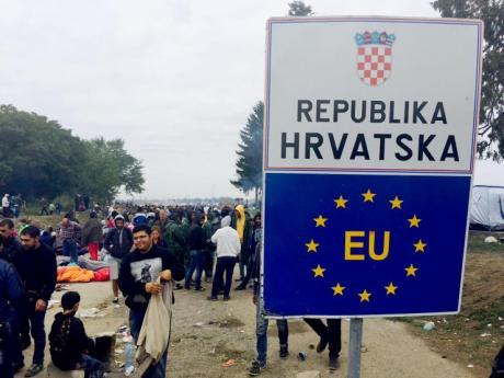 At the Croatian border with Serbia Photo: Branko Filipovic/Reuters