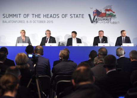Croatian President at Visegrad V4 2015