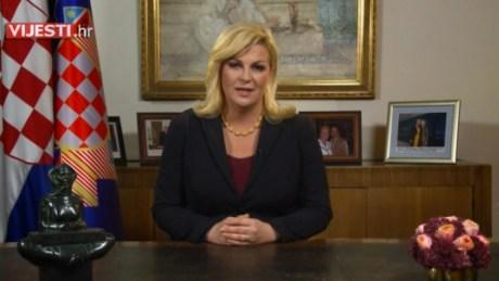 President Kolinda Grabar-Kitarovic Announcing Croatian General Elections Photo: Screenshot dnevnik.hr 5 October 2015