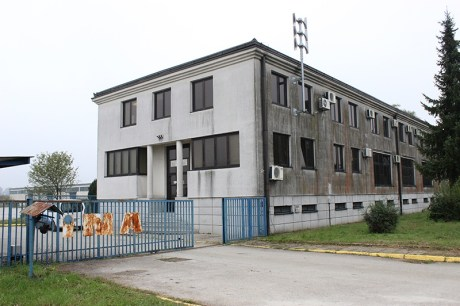 Building at Slavonski Brod Croatia to house refugees