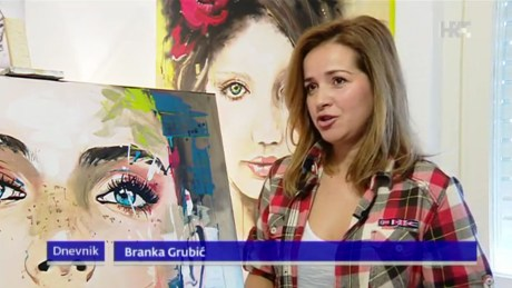 Branka Grubic Croatian TV news Screenshot: HRT TV 9 January 2016