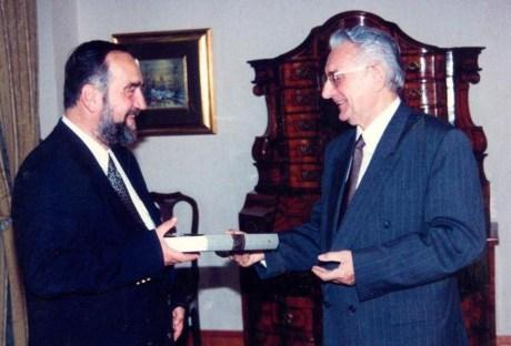 Dr. Slobodan Lang (Left) and Dr. Franjo Tudjman President of Croatia, 1991