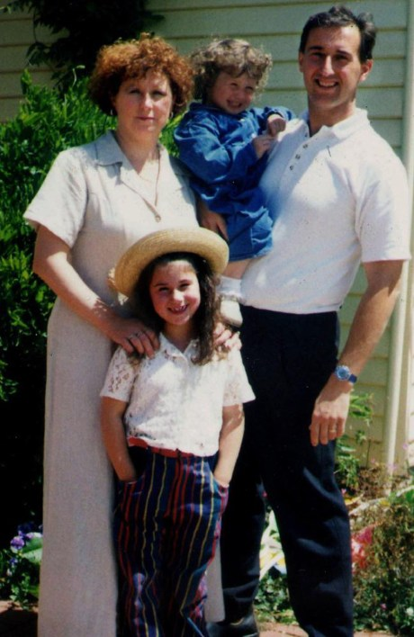 Family photo of Port Arthur massacre victims, Nanette, Alannah (left) and Madeline Mikac, with Walter Mikac. Source:News Limited