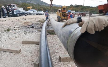 Dugopolje-Split Gas Pipeline works Photo: EVN/Seenews
