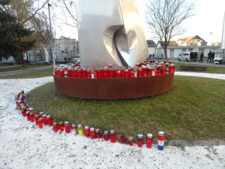 South Courtyard Vukovar Hospital monument to the fallen Photo: Connor Vlakancic