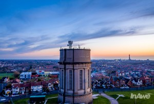 aerial-photography-blackpool-in-awe-digital-media-drone-video-lancashire-expert-drone-photography-drone-flyers-blackpool-warbreck-water-tower_0001-HDR