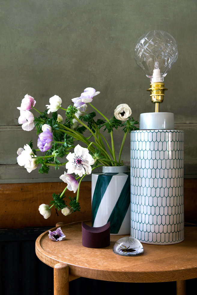 Vackra lampor i keramik från Mimou.