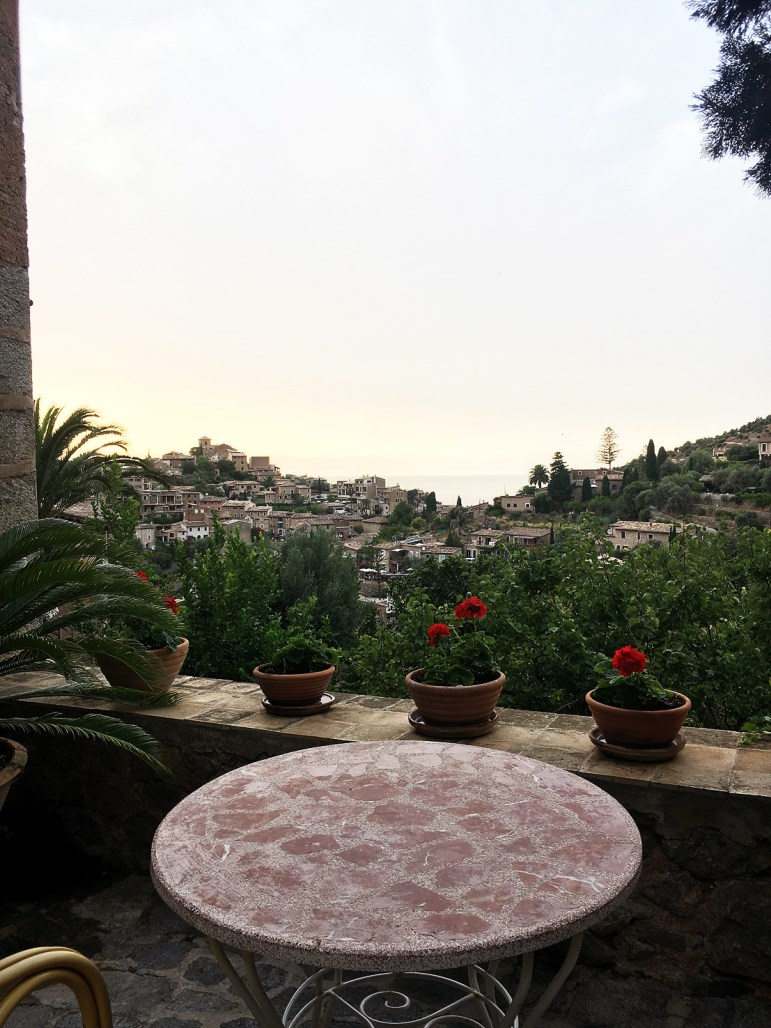 Utsikt från Hostel Miramar Deia, Mallorca