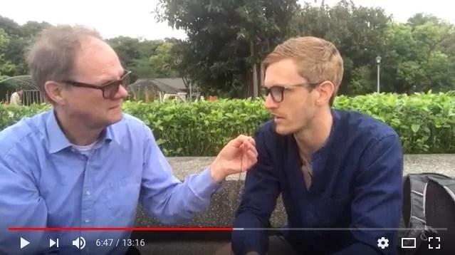 TV-intervju med mig om Taiwan, visum och Kinas utveckling