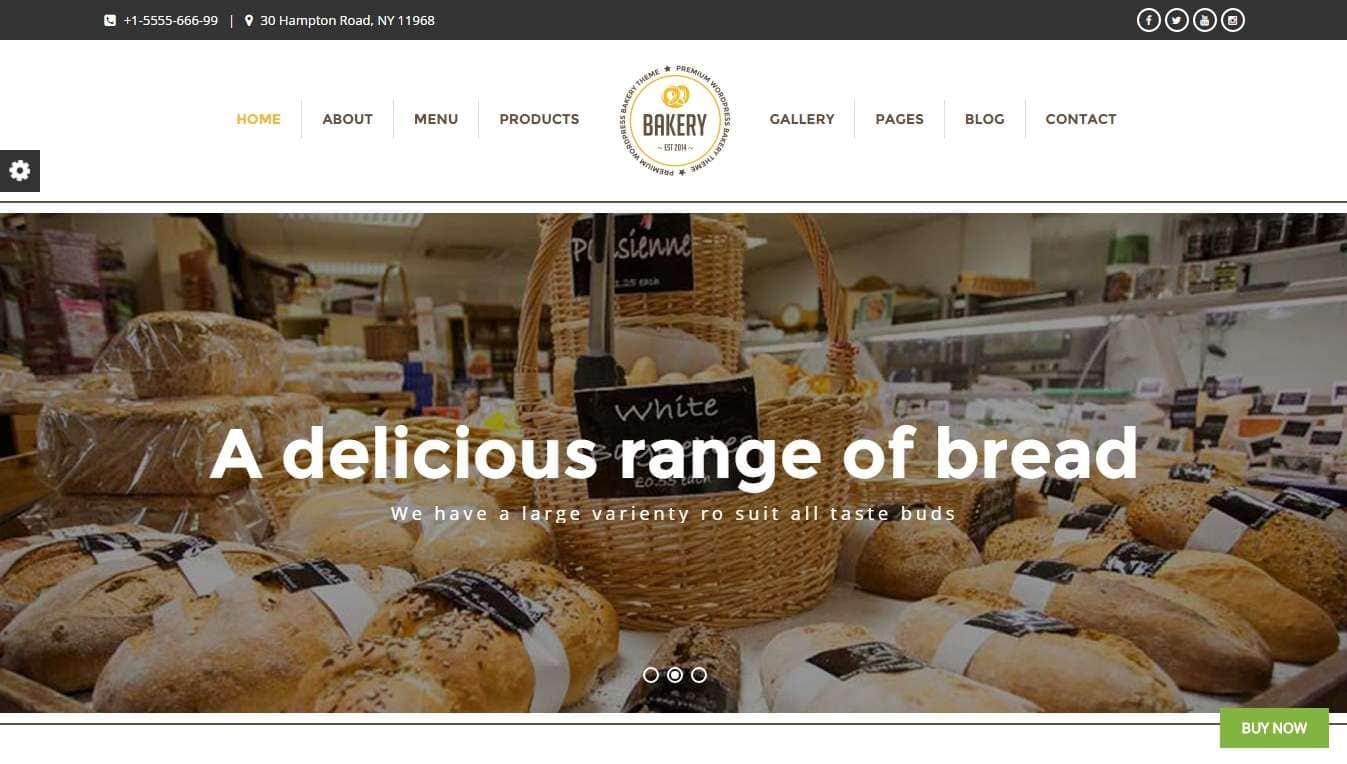 веб сайт для пекарни