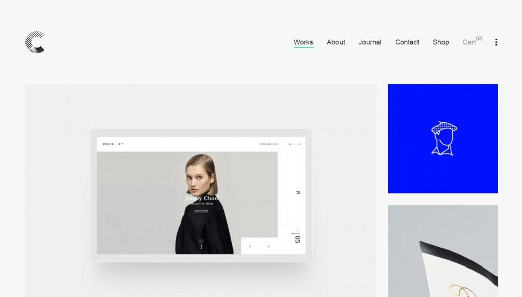 веб сайт портфолио на базе WordPress 2017 01