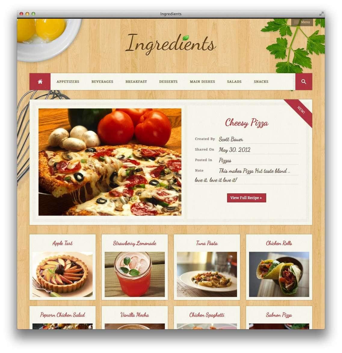 кулинарные темы WordPress 10