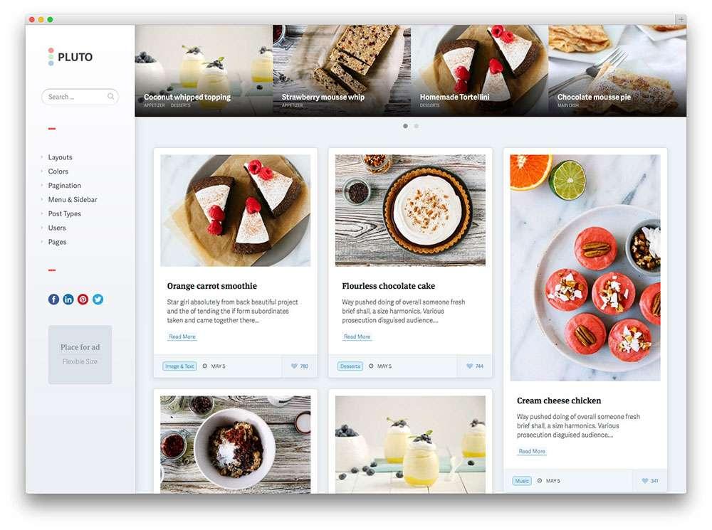 кулинарные темы WordPress 5