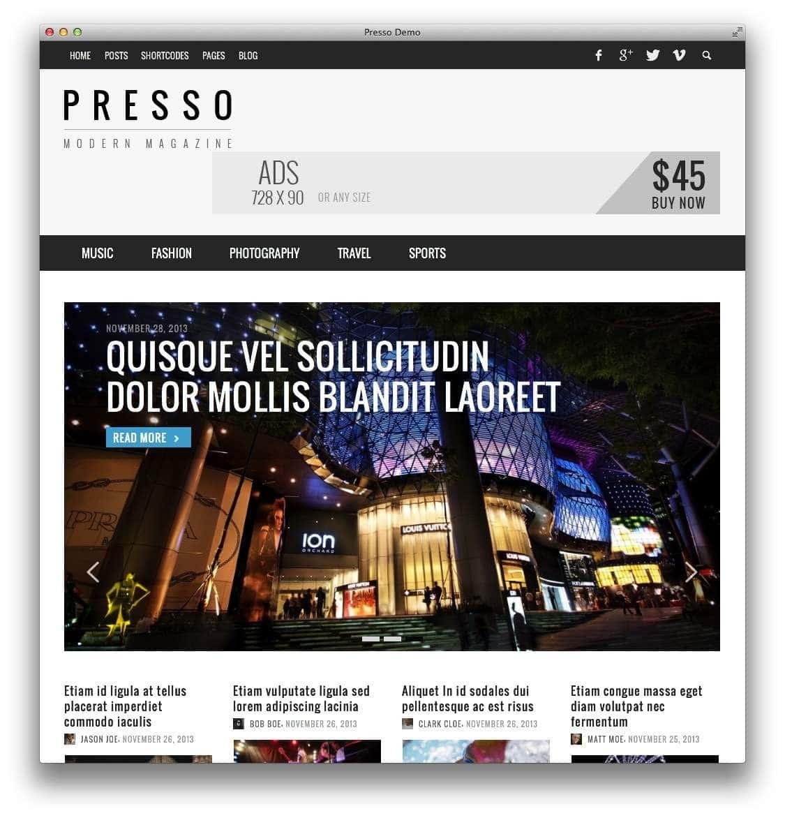 минималистские темы WordPress для бизнеса и блогов12
