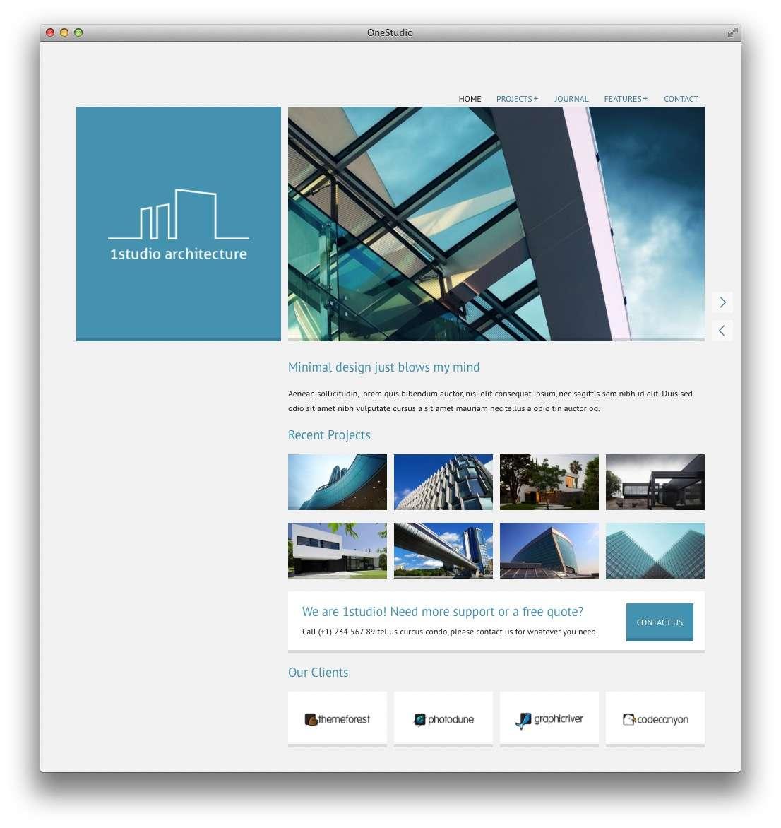 минималистские темы WordPress для бизнеса и блогов7