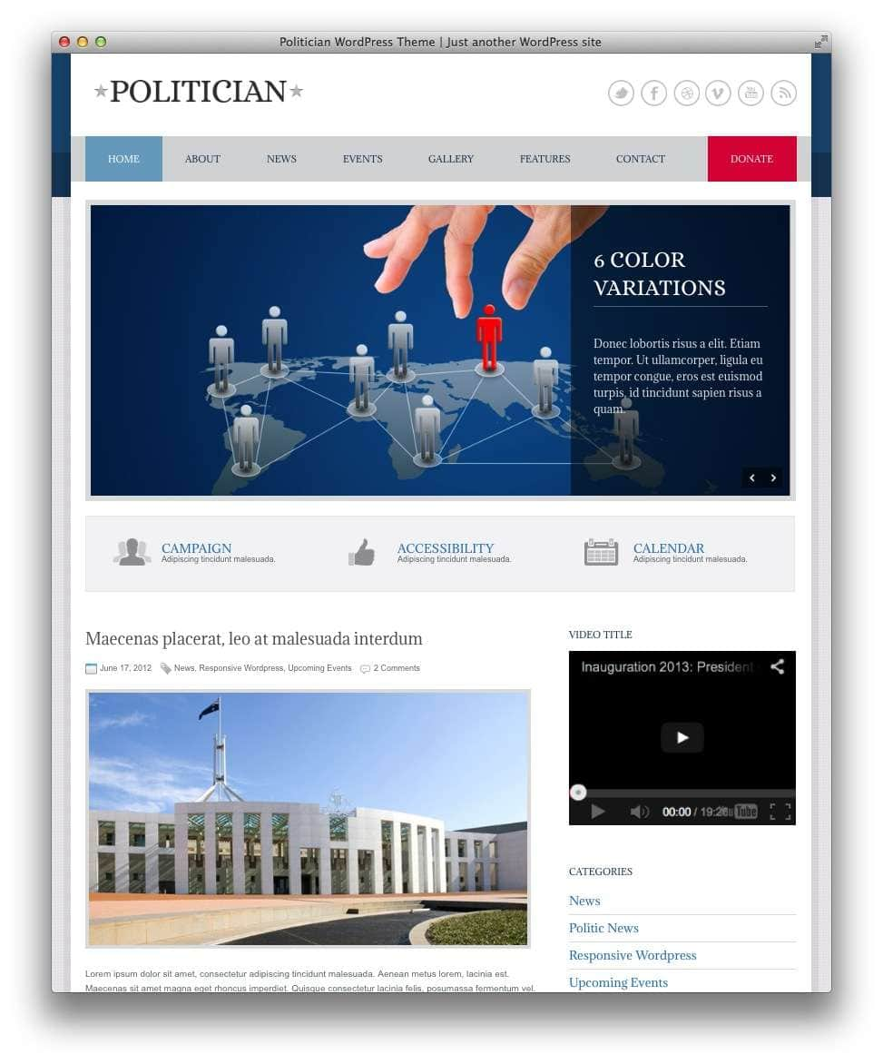 веб-сайт политическим партиям