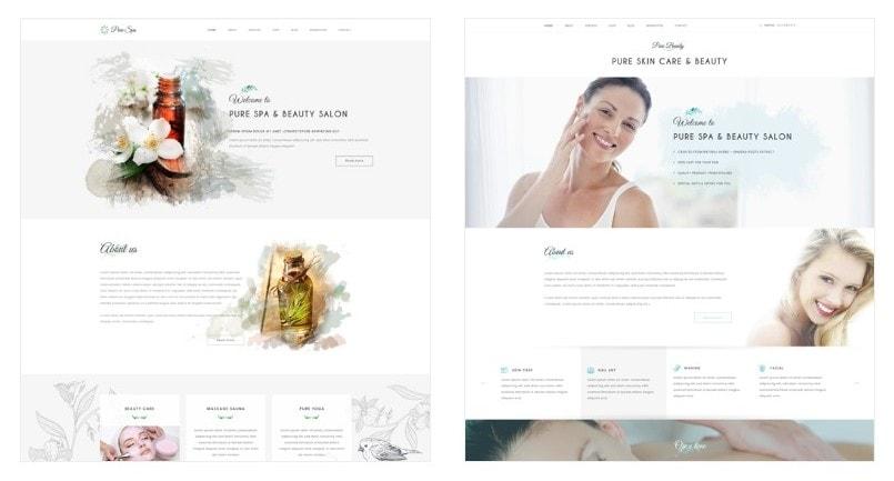 шаблоны WordPress для салона красоты и СПА (SPA & Beauty) 01