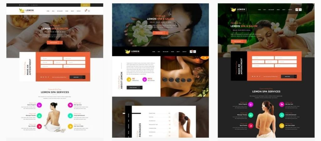шаблоны WordPress для салона красоты и СПА (SPA & Beauty) 02