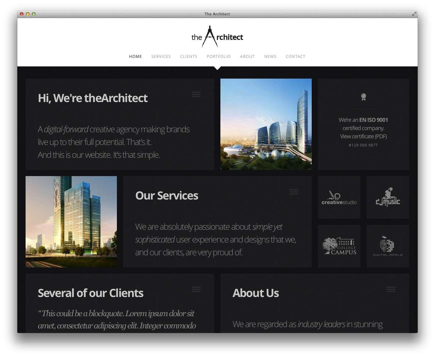 WordPress Шаблоны для архитекторов и ландшафтных дизайнеров5