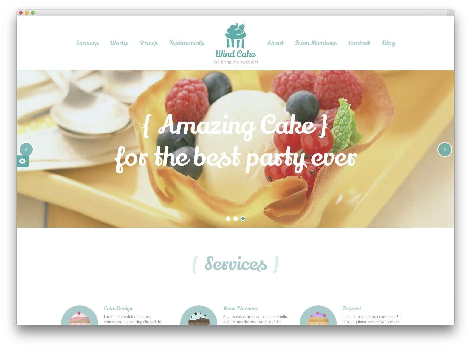 WordPress сайт для кондитерской или кофейной1