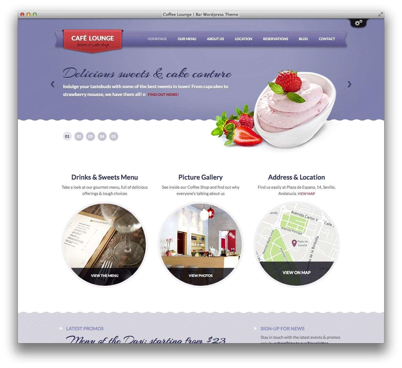 WordPress сайт для кондитерской или кофейной10