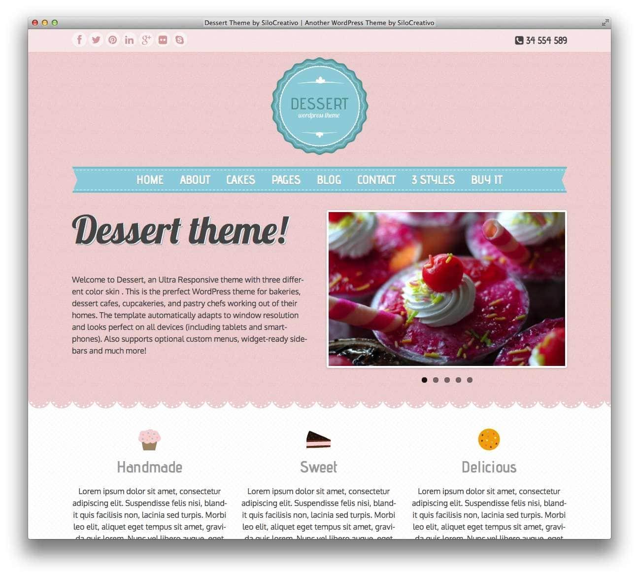 WordPress сайт для кондитерской или кофейной9
